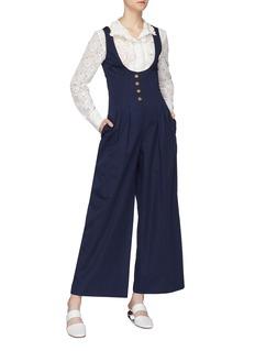 Rosie Assoulin Button scoop front jumpsuit