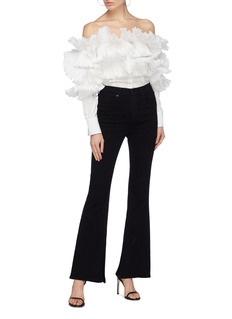 Rosie Assoulin 'The Potato Chip' pleated off-shoulder top