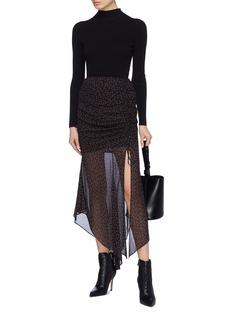 Nicholas Rose print asymmetric silk skirt