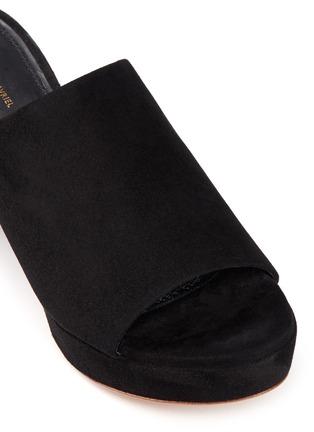 Detail View - Click To Enlarge - Mansur Gavriel - Block heel suede mules