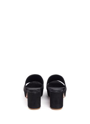 Back View - Click To Enlarge - Mansur Gavriel - Block heel suede mules