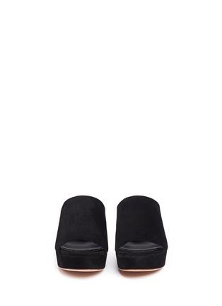 Front View - Click To Enlarge - Mansur Gavriel - Block heel suede mules