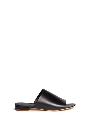 Main View - Click To Enlarge - MANSUR GAVRIEL - Leather flat mules