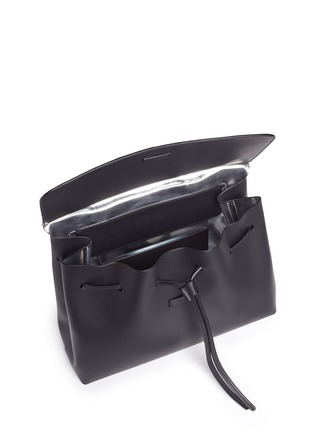 Detail View - Click To Enlarge - MANSUR GAVRIEL - 'Lady' large contrast metallic lining leather bag