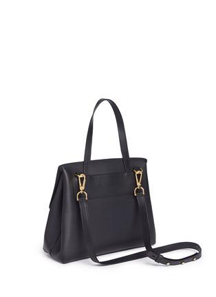 Back View - Click To Enlarge - MANSUR GAVRIEL - 'Lady' large contrast metallic lining leather bag
