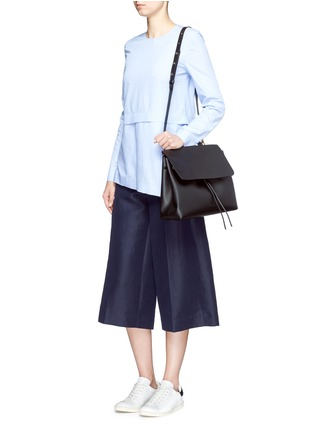 Figure View - Click To Enlarge - MANSUR GAVRIEL - 'Lady' large contrast metallic lining leather bag