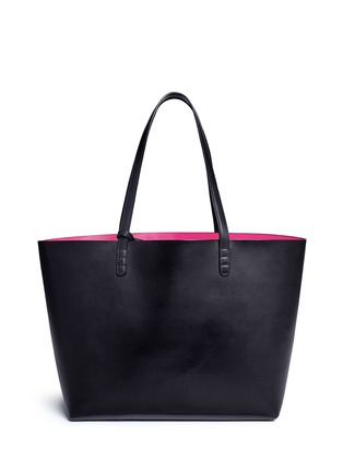 Back View - Click To Enlarge - Mansur Gavriel - Large leather tote with contrast lining