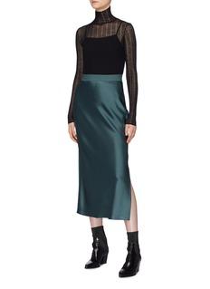 Theory Side split satin slip skirt
