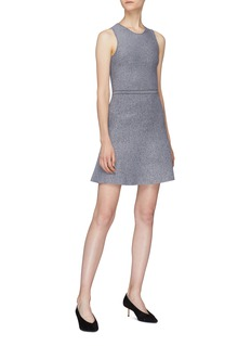 Theory Marled flared sleeveless dress
