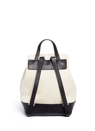 Back View - Click To Enlarge - Mansur Gavriel - Mini leather canvas combo backpack