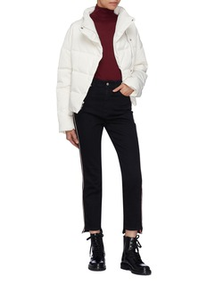 Theory Asymmetric mock neck down puffer jacket