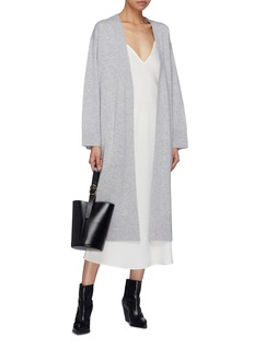 Theory Belted wool-cashmere long robe cardigan