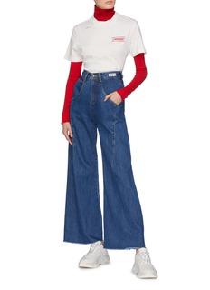 Ground Zero Panelled wide leg jeans