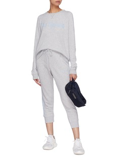 The Upside 'St Tropez' stripe outseam logo embroidered jogging pants