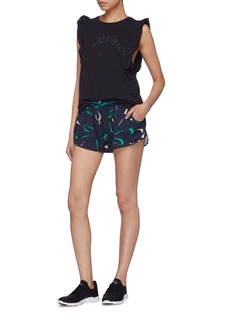 The Upside 'African Camo' abstract print running shorts