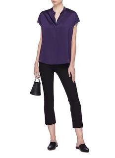Vince Split back silk sleeveless shirt