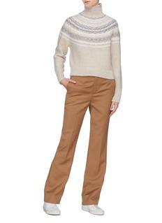 Vince Fair Isle intarsia yoke wool-cashmere turtleneck sweater