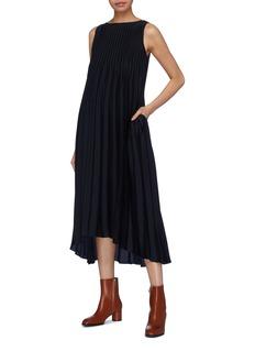 Vince Pleated sleeveless dress