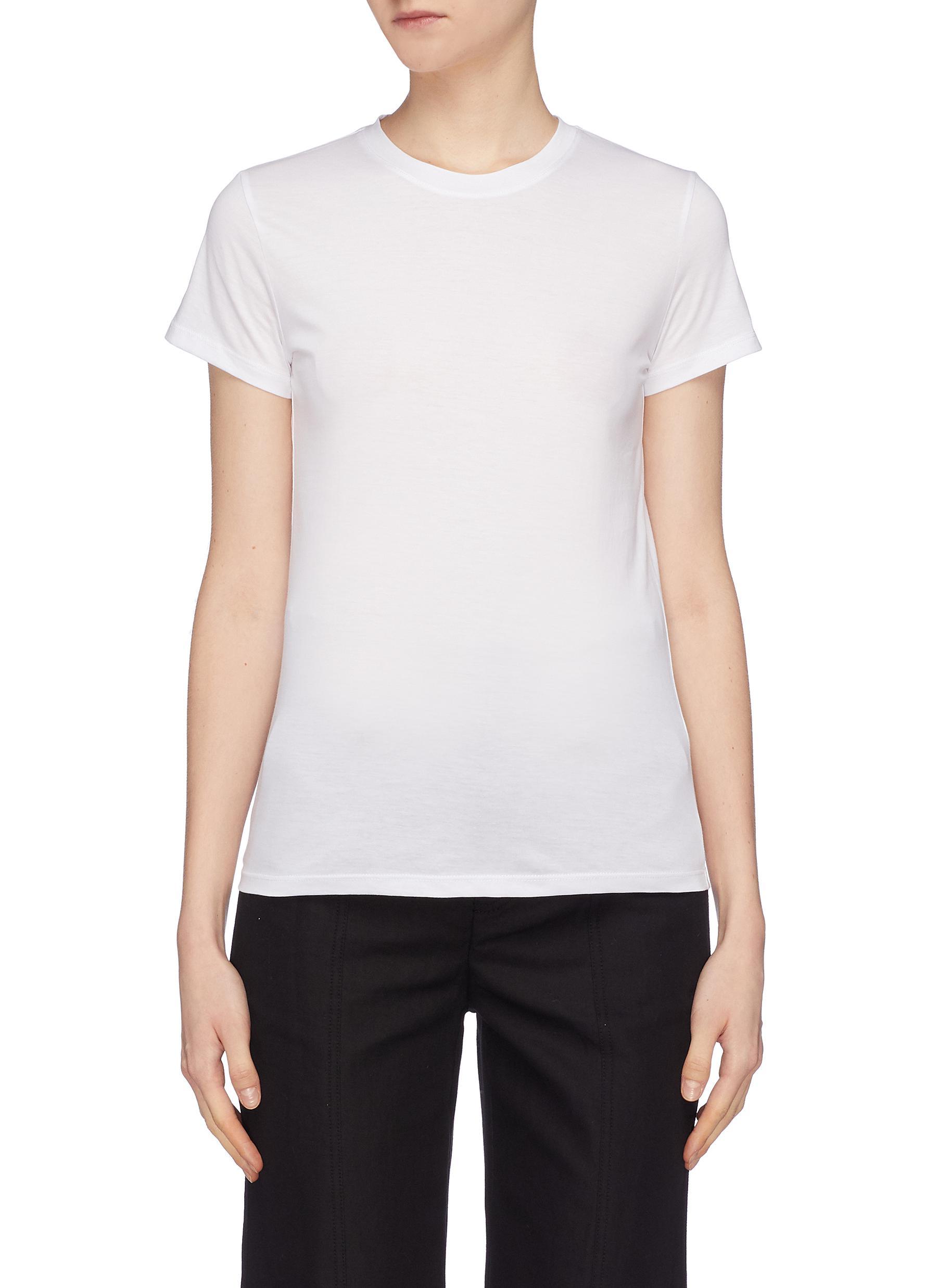 Vince Pima Cotton Slub Jersey T Shirt Women Lane Crawford