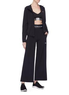 Calvin Klein Performance Logo waistband wide leg pants