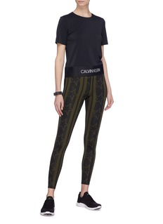 Calvin Klein Performance Stripe star print performance leggings