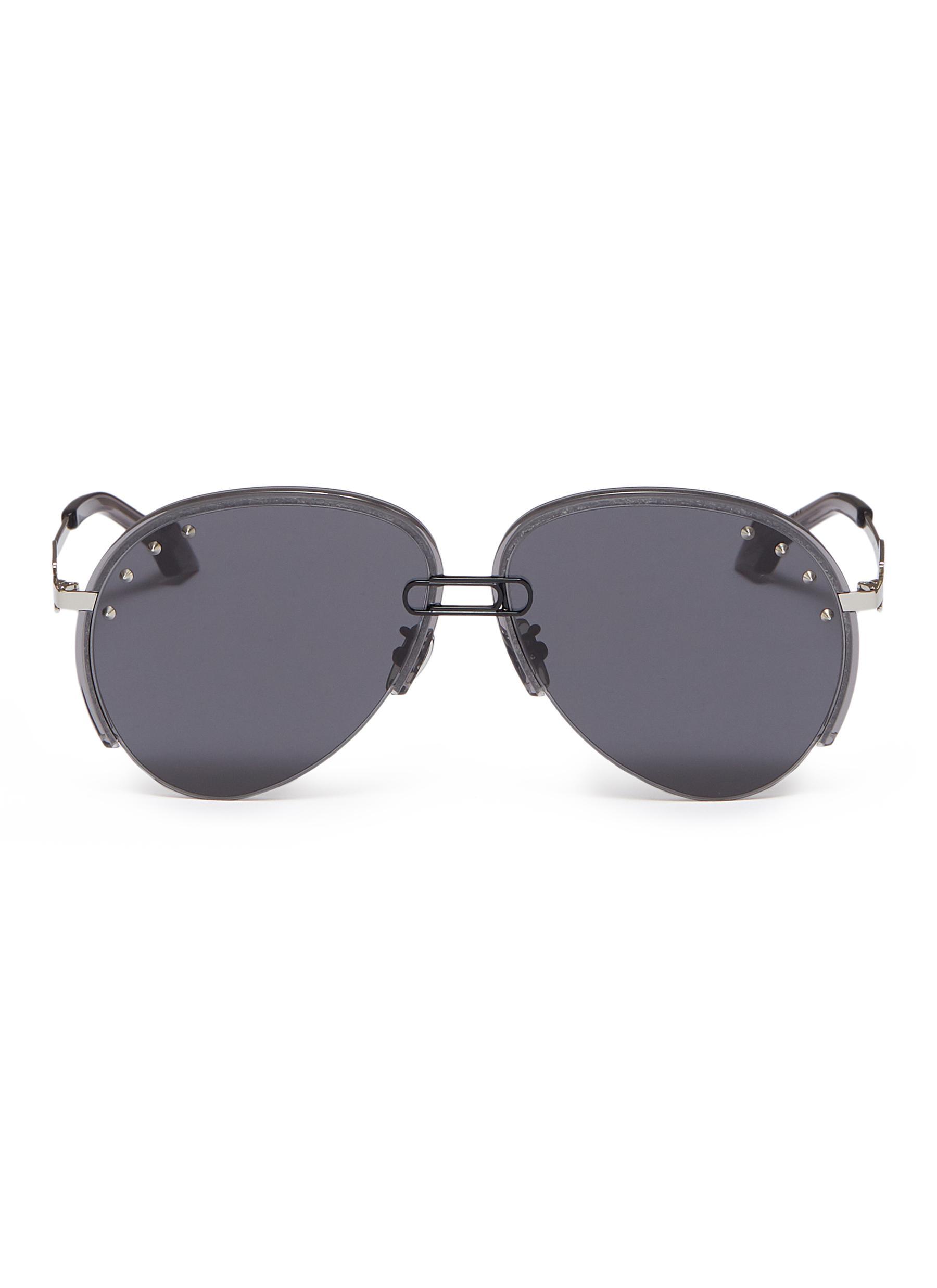 c59497761 Main View - Click To Enlarge - WHATEVER EYEWEAR - Stud metal aviator  sunglasses