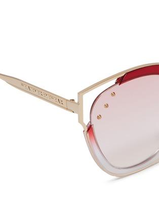 Detail View - Click To Enlarge - WHATEVER EYEWEAR - Stud metal cat eye sunglasses