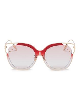 Main View - Click To Enlarge - WHATEVER EYEWEAR - Stud metal cat eye sunglasses