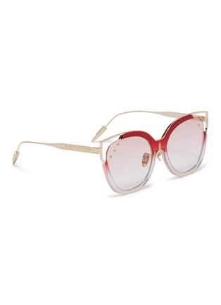 Figure View - Click To Enlarge - WHATEVER EYEWEAR - Stud metal cat eye sunglasses