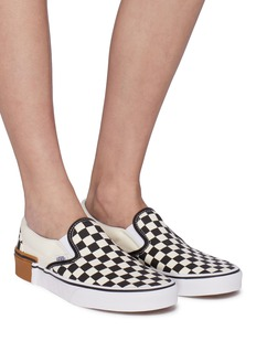 Vans 'Gum Block Classic Slip On' colourblock checkerboard skates