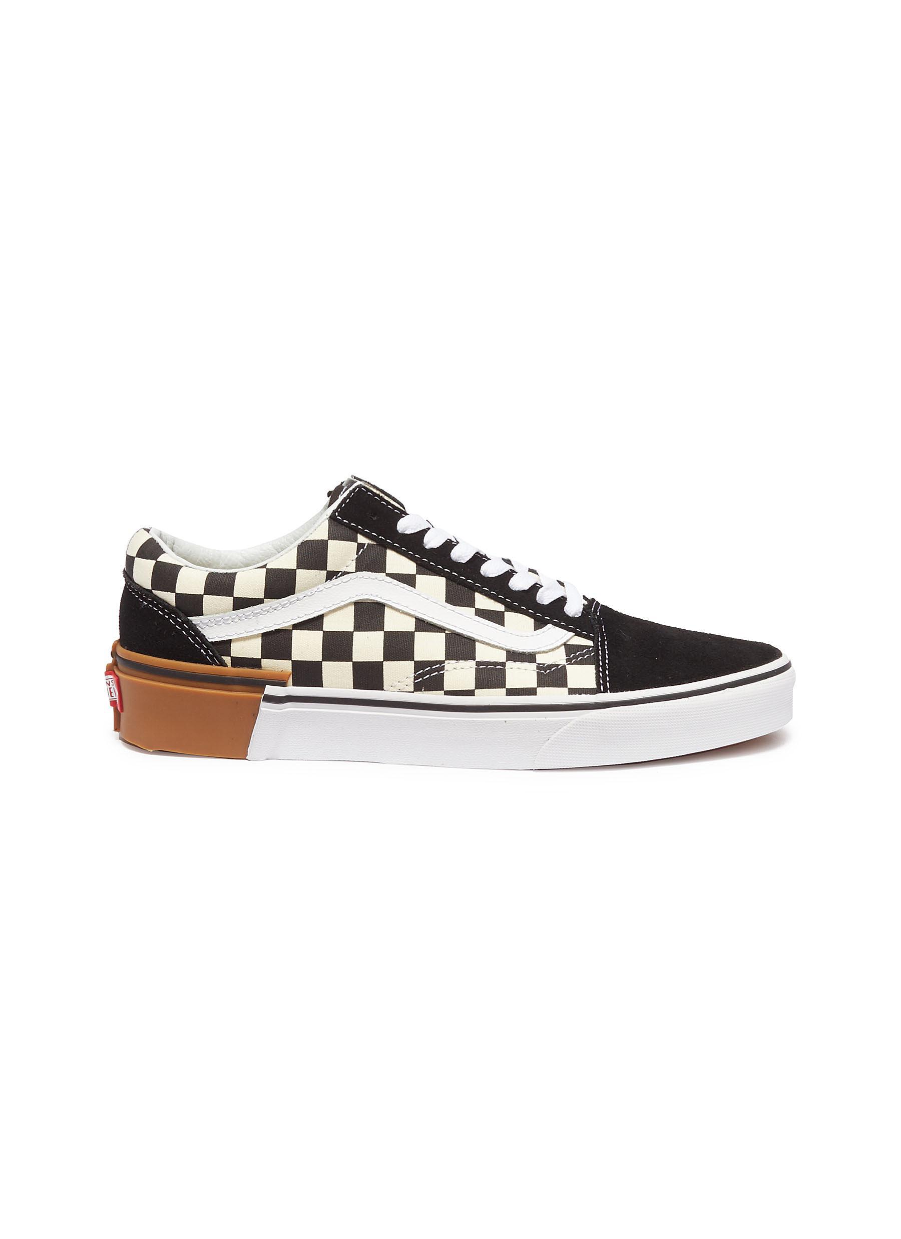 Gum Block Old Skool colourblock checkerboard sneakers by Vans