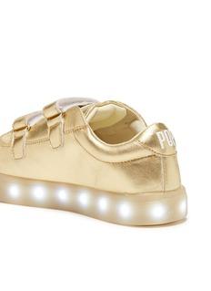 POP Shoes 'St Laurent' LED midsole metallic leather kids sneakers