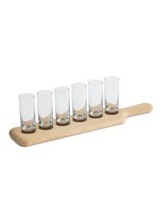 Lsa Vodka glass and paddle set