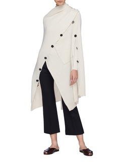 Rosetta Getty Convertible button outseam cashmere cape cardigan