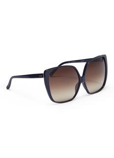 LINDA FARROW VINTAGE Oversized acetate square sunglasses