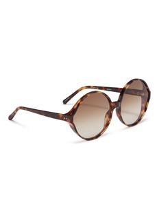 Linda Farrow Oversized tortoiseshell acetate round sunglasses