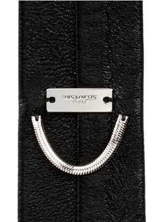 Detail View - Click To Enlarge - SAINT LAURENT - Leather skinny tie