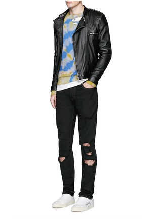 Figure View - Click To Enlarge - SAINT LAURENT - Distressed skinny jeans