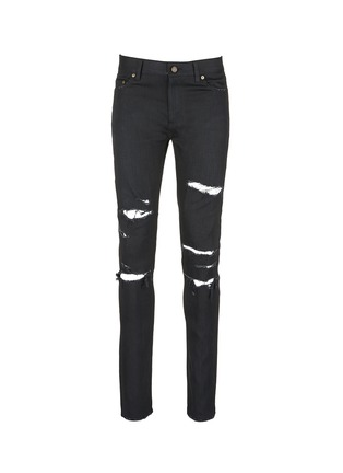 Main View - Click To Enlarge - SAINT LAURENT - Distressed skinny jeans