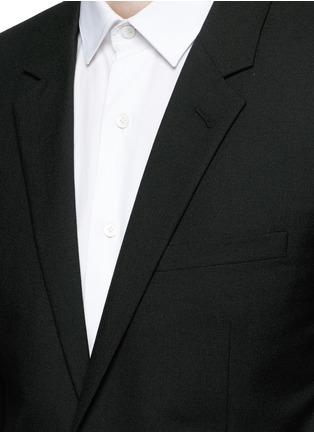 Detail View - Click To Enlarge - SAINT LAURENT - Notched lapel wool hopsack suit