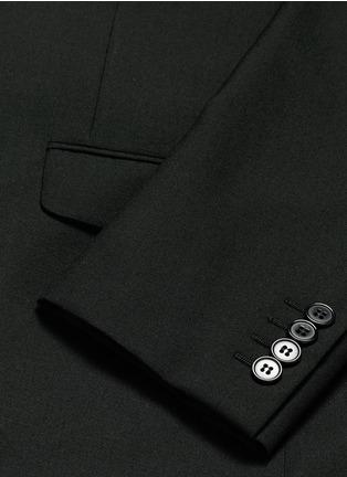- SAINT LAURENT - Notched lapel wool hopsack suit