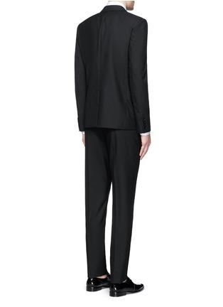 Back View - Click To Enlarge - SAINT LAURENT - Notched lapel wool hopsack suit