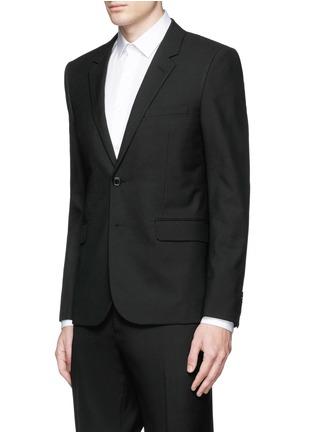 Front View - Click To Enlarge - SAINT LAURENT - Notched lapel wool hopsack suit