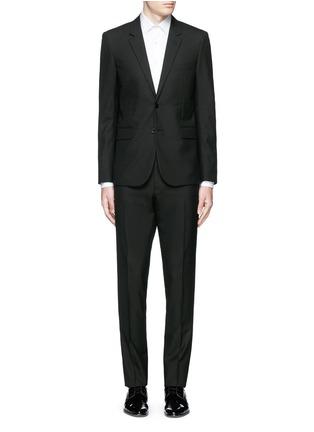 Main View - Click To Enlarge - SAINT LAURENT - Notched lapel wool hopsack suit