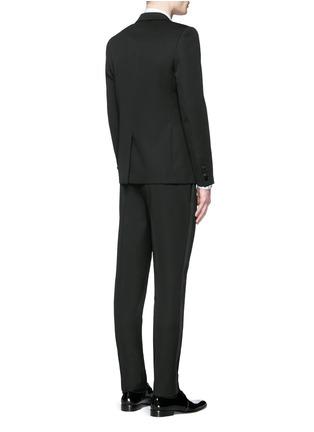 Back View - Click To Enlarge - SAINT LAURENT - Satin peak lapel virgin wool tuxedo suit