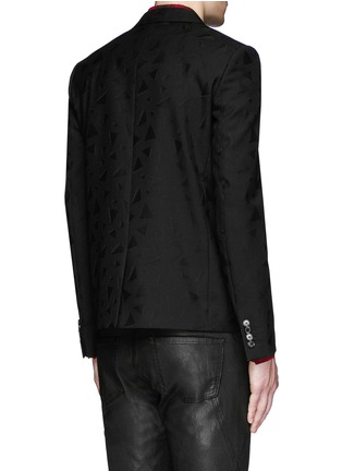 Back View - Click To Enlarge - SAINT LAURENT - Triangle jacquard wool twill blazer