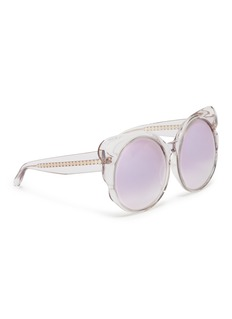 Matthew Williamson Mirror acetate butterfly frame sunglasses