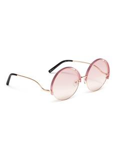 Matthew Williamson Contrast upper rim metal round sunglasses