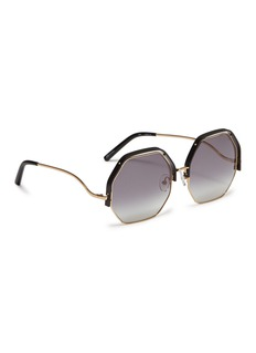 Matthew Williamson Contrast upper rim metal octagon frame sunglasses