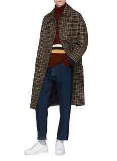 FFIXXED STUDIOS Tartan plaid twill coat